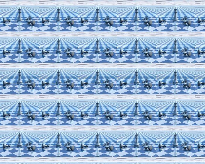 Vinylová Tapeta Abstraktní neskutečný pozadí s modrým šachy a šachovnicí - Pozadí