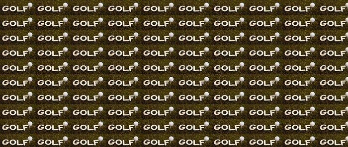 Vinylová Tapeta Golfový míček na zelené trávě - Golf