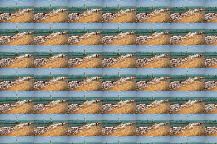 Vinylová Tapeta Staré molo pilíře v moři - Voda