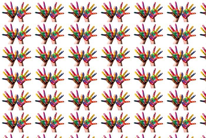 Vinylová Tapeta Dvě barevné ruce V3 - Štěstí