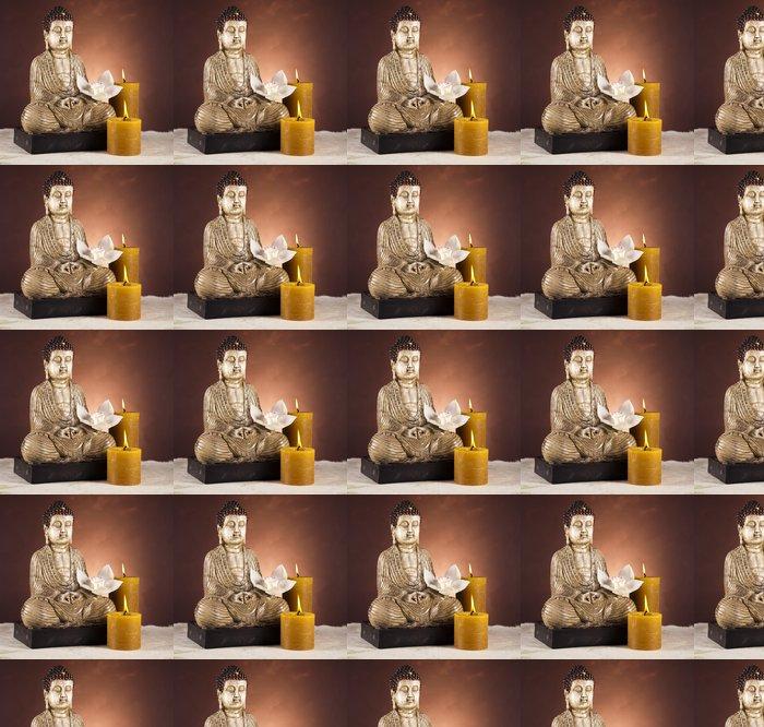 Vinylová Tapeta Buddha se svíčkou - Témata