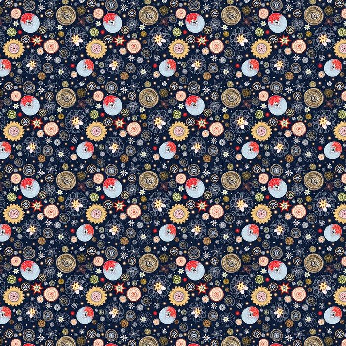 Vinylová Tapeta Květinové textury - Struktury