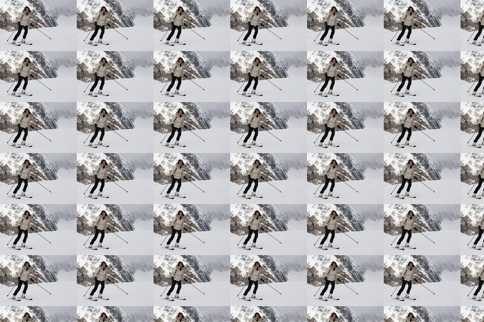 Vinylová Tapeta Donna che Scia - Individuální sporty
