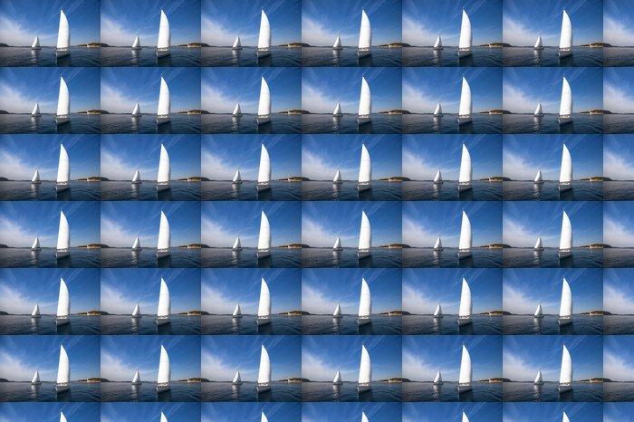 Vinylová Tapeta Yachting v Řecku. Plachtění. Luxus - Lodě