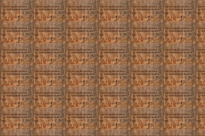 Vinylová Tapeta Starožitné hieroglyfy na egyptské papyrus - Umění a tvorba