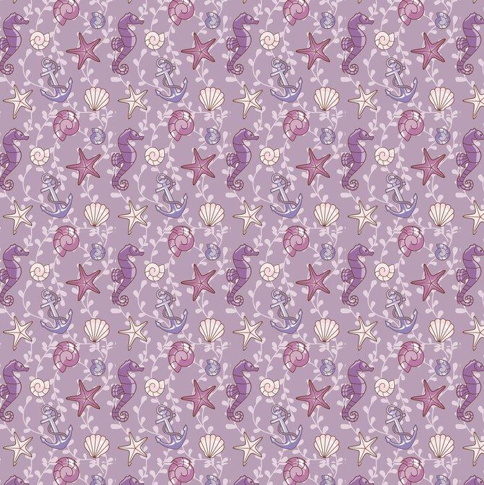 Vinylová Tapeta Moře-fialová-pattern.eps - Témata