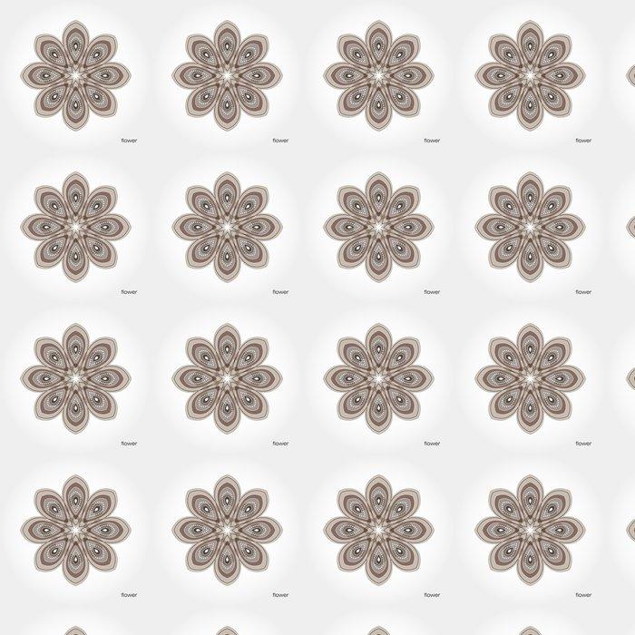 Vinylová Tapeta Hnědá s květinovými vzory na okvětních lístků - Květiny