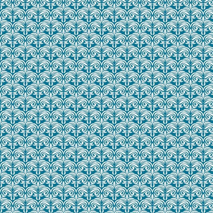 Vinylová Tapeta Modrá a bílá bezešvé vzor - Pozadí