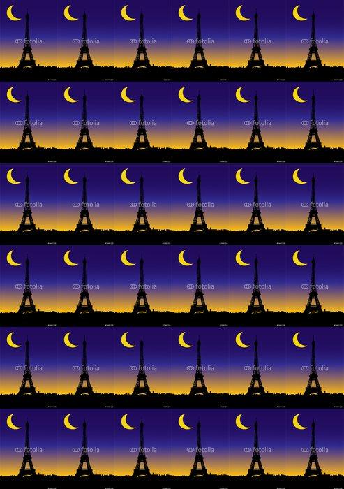 Vinylová Tapeta Notturno Parigi - Evropská města