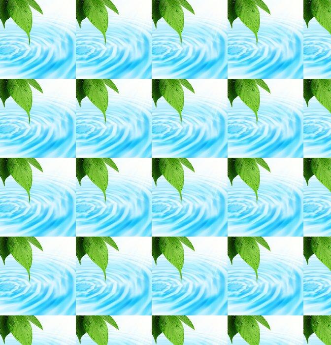 Vinylová Tapeta Zeleným čerstvým list a voda - Zdraví a medicína