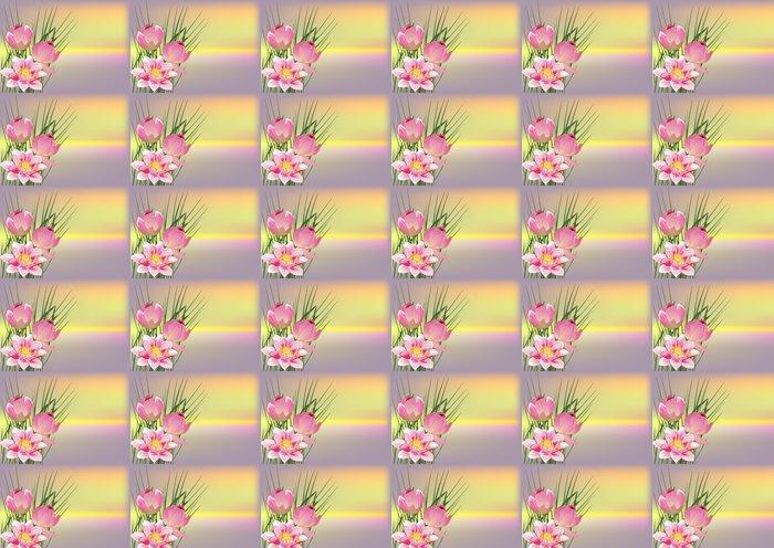 Vinylová Tapeta Růžová složení s lotosové květy - Styly