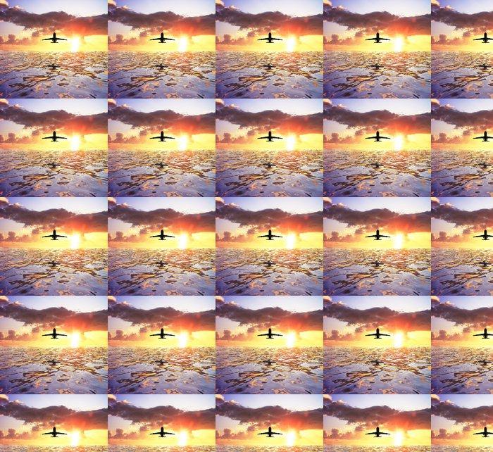 Vinylová Tapeta Letadlo a moře - Témata