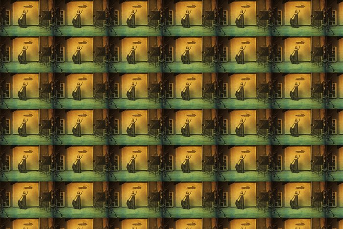 Vinylová Tapeta Art obrázek s krásnou ženou, retro textura - Styly