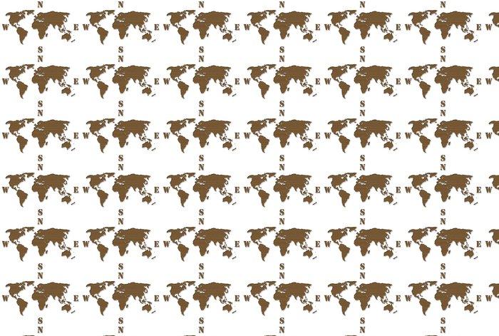 Vinylová Tapeta Karton World Map - Prázdniny