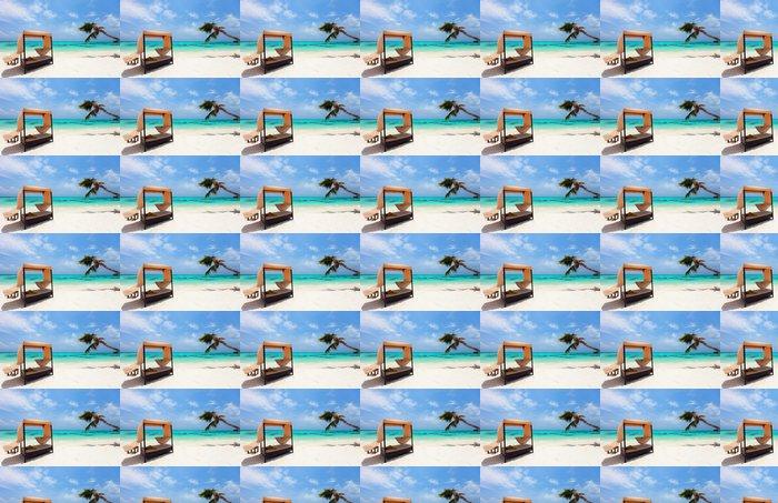 Vinylová Tapeta Idylické tropické pláži na Maledivách - Voda