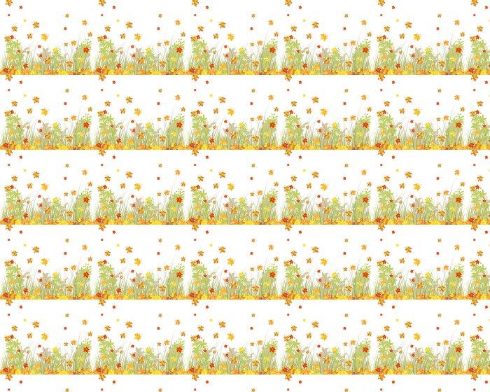 Meadow autumn background Vinyl Wallpaper - Seasons