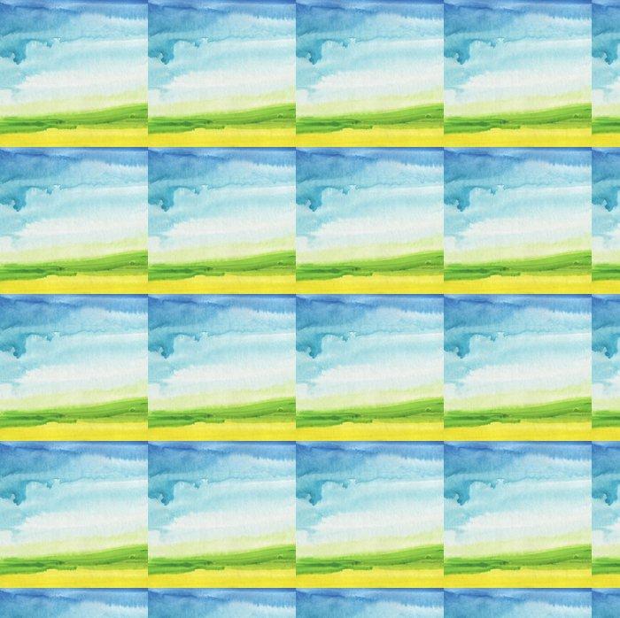 Vinylová Tapeta Abstraktní akvarel ručně malované krajiny pozadí. texturou - Témata