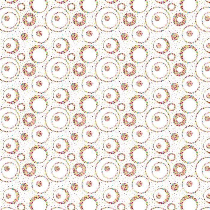 Vinylová Tapeta Bezešvé abstraktní vzor s kruhy a chaotické bodů - Pozadí