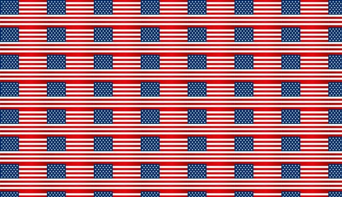 Vinylová Tapeta Americká vlajka - Americká města
