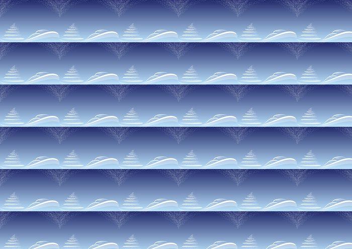 Vinylová Tapeta Pozadí natalizio blu stilizzato Stelline - Mezinárodní svátky