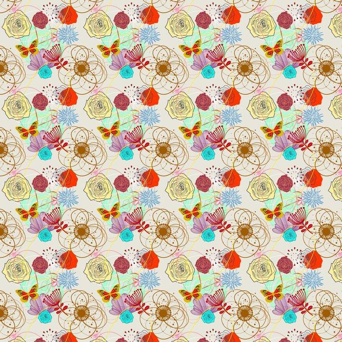 Vinylová Tapeta Floral seamless pattern v retro stylu - Styly
