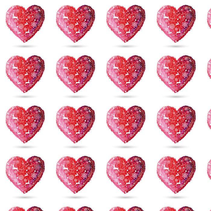 Vinylová Tapeta Vánoce láska srdce bohémský blahopřání - Mezinárodní svátky