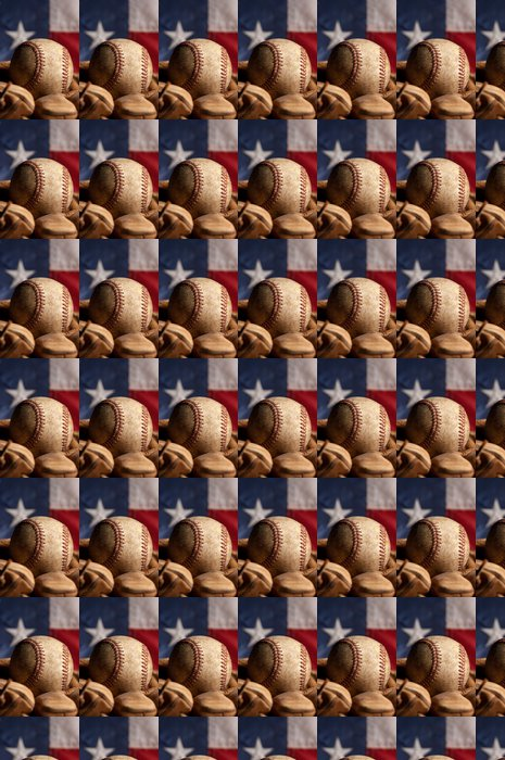 Vinylová Tapeta Vintage baseball a americká vlajka - Sportovní potřeby