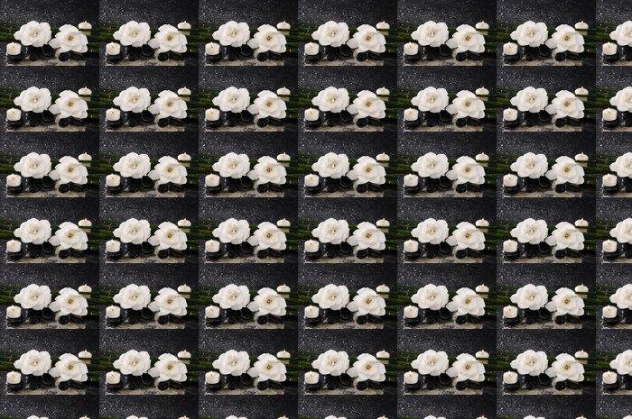 Vinylová Tapeta Gardénie květ se svíčkou a bambusovém háji na mokru - Životní styl, péče o tělo a krása