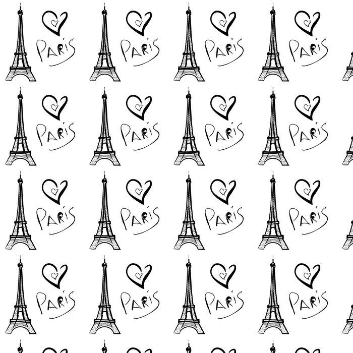 Vinylová Tapeta Vektorové ilustrace Paříž, Eiffelova věž - Infrastruktura