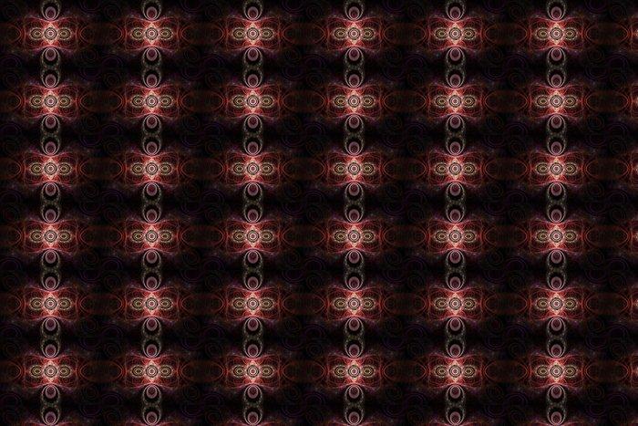 Vinylová Tapeta Růžové a červené vzory abstraktní fraktálové design - Pozadí