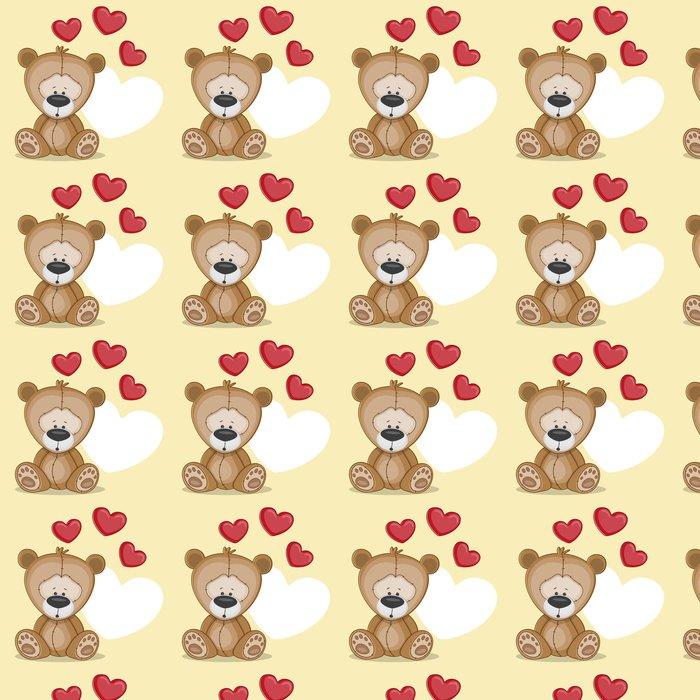 Vinylová Tapeta Medvěd se srdcem - Pro malého