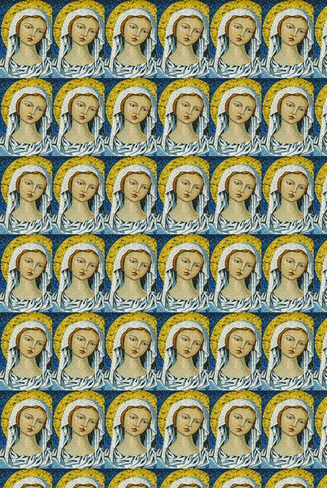 Vinylová Tapeta Mosaico Madonna Vergine Maria, Sfondo con Trama - Surové materiály