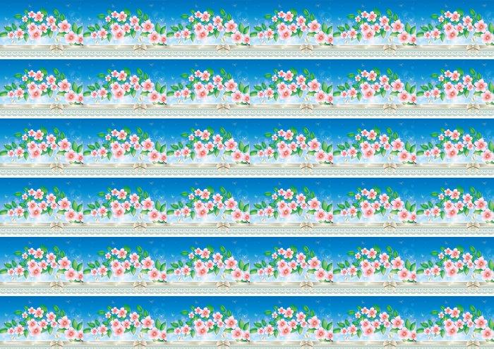 Vinylová Tapeta Blahopřání s květinami - Národní svátky