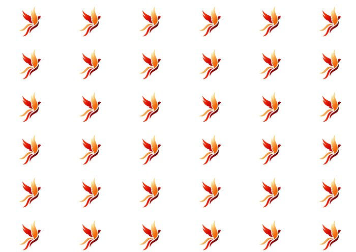 Vinylová Tapeta Pták, logo, fénix, létání, jestřáb, orel, křídla, ikona, symbol - Ptáci