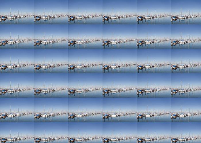 Vinylová Tapeta Lodě v přístavu - Voda