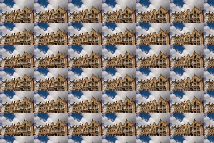 Vinylová Tapeta Fleminsh stylu domu ulici v Bruggách Belgii - Evropa