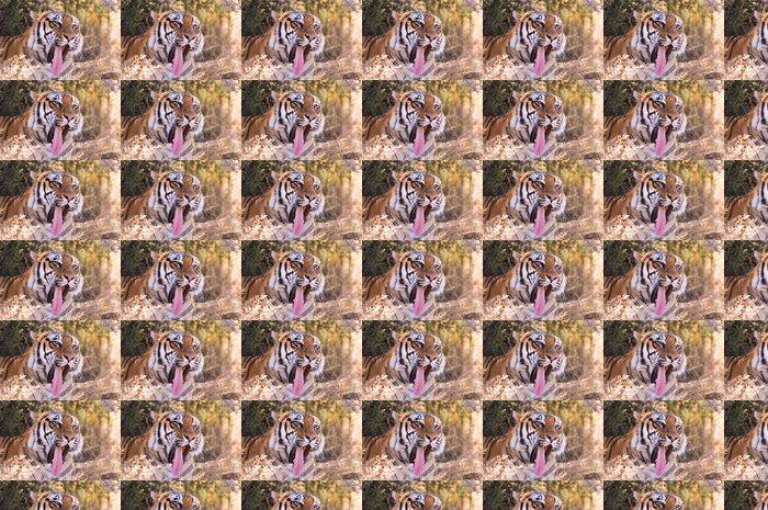 Vinylová Tapeta Portrét záběr zející Bengálský tygr - Savci