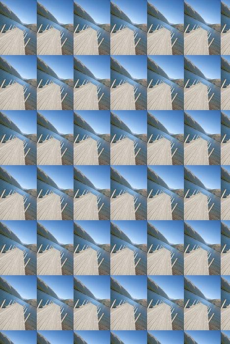 Vinylová Tapeta Molo u jezera Rotoiti s výhledem na hory - Lodě