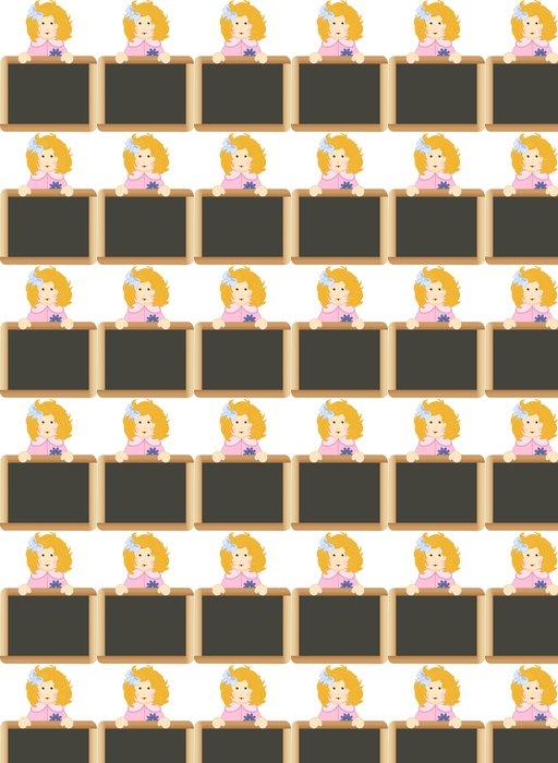 Vinylová Tapeta Girl School Board - Nálepka na stěny