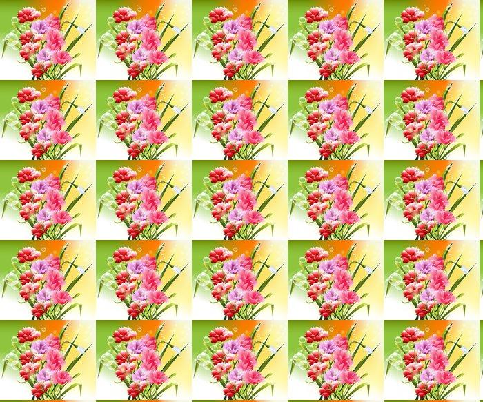 Vinylová Tapeta Jarní květiny pozadí -