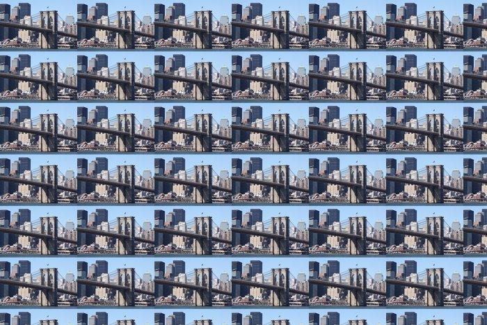 Vinylová Tapeta Brooklyn Bridge a Manhattan skyline na jasně modré den - Americká města
