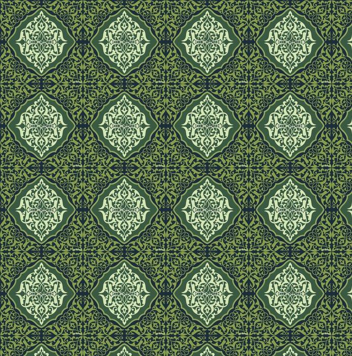 Vinylová Tapeta Arabesque dlaždice Green 2 - Střední Východ
