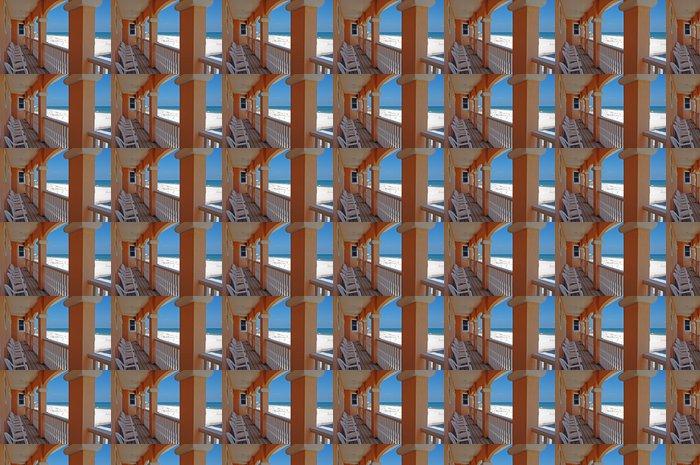 Vinylová Tapeta Beach House Balkon - Prázdniny