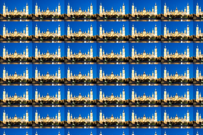 Vinylová Tapeta Chrám za soumraku Zaragoza Basilica - Veřejné budovy