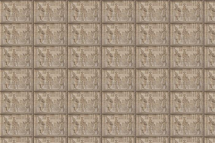 Vinylová Tapeta Hieroglypic řezby na egyptské chrámu - Afrika