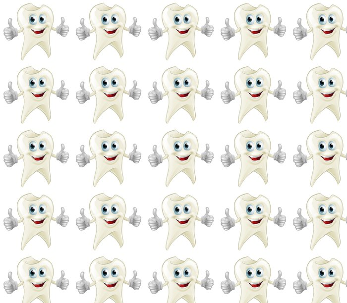 Vinylová Tapeta Usmívající zubů maskota - Zdraví a medicína