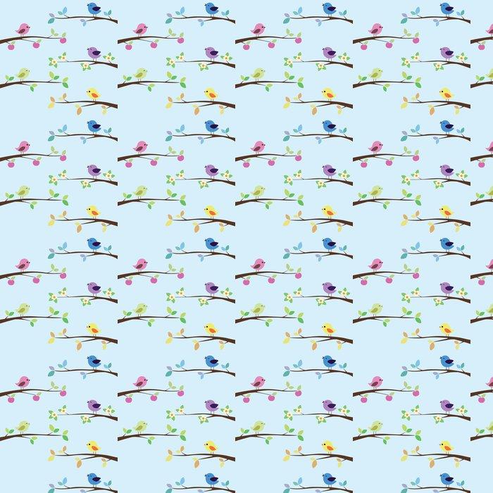 Vinylová Tapeta Mnoho světlé ptáci na různých větvích - Ptáci