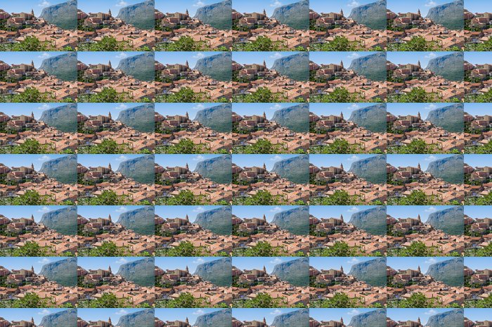 Vinyltapet Panoramautsikt över Maratea. Basilicata. Italien. - Helgdagar