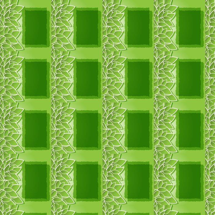 Vinylová Tapeta Zelené pozadí s listy - Pozadí
