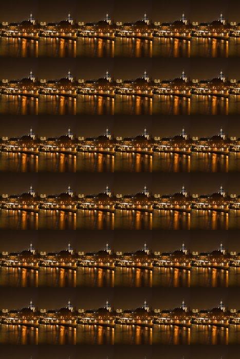Vinylová Tapeta Paris v noci - Evropská města